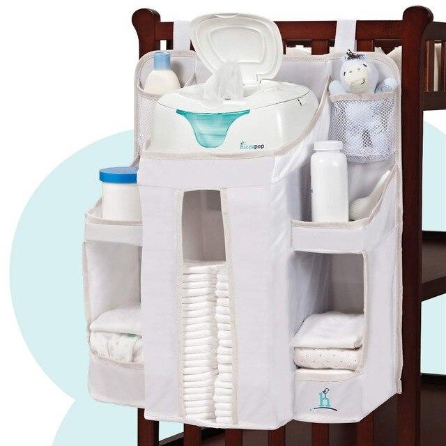 Bolsa de maternidade para bebês, fralda para bebês, organizador de berçário, pendurado, berço, fralda, designer, molhado/seco, grande, à prova d água, saco de enfermagem para viagem