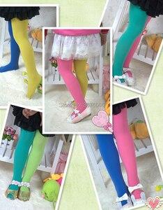 Image 5 - Meisjes Snoep Kleur Panty Voor Baby Kids Leuke Fluwelen Panty Contrast Combinatie Kleur Meisje Lente/Herfst Warme Dans Kousen