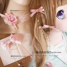 Принцесса сладкий Лолита руководство повязка для волос ручной бабочка шпилька птица ожерелье головной убор GSH129