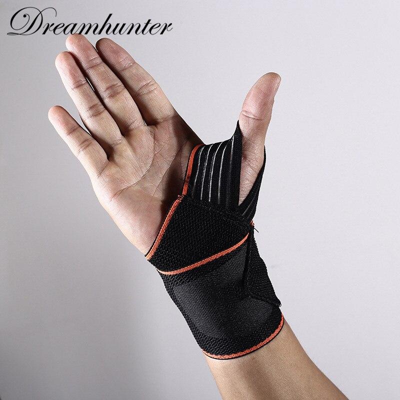 Adjustable strap wrist support Pressurization Wrist Brace Fitness Tennis Elastic bandage gym gloves sweatband wrist protector