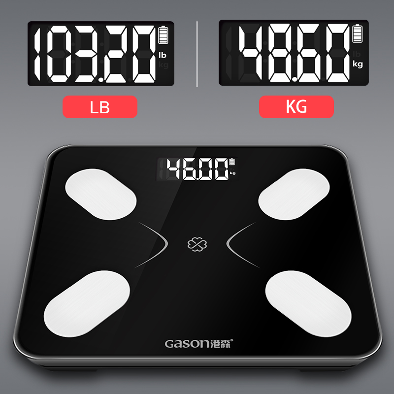 Image 5 - GASON S3 Body Fat Scale Floor Scientific Smart Electronic LCD Digital Weight Bathroom Balance Bluetooth APP Android or IOS-in Bathroom Scales from Home & Garden