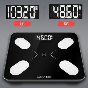 Image 5 - Gason s3 escala de gordura corporal piso científico inteligente eletrônico lcd digital peso banheiro equilíbrio bluetooth app android ou ios