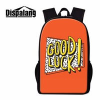Dispalang GOOD LUCK School Bag For College Students Trendy Backpacks For Youth Boys Lightweight Male Travel