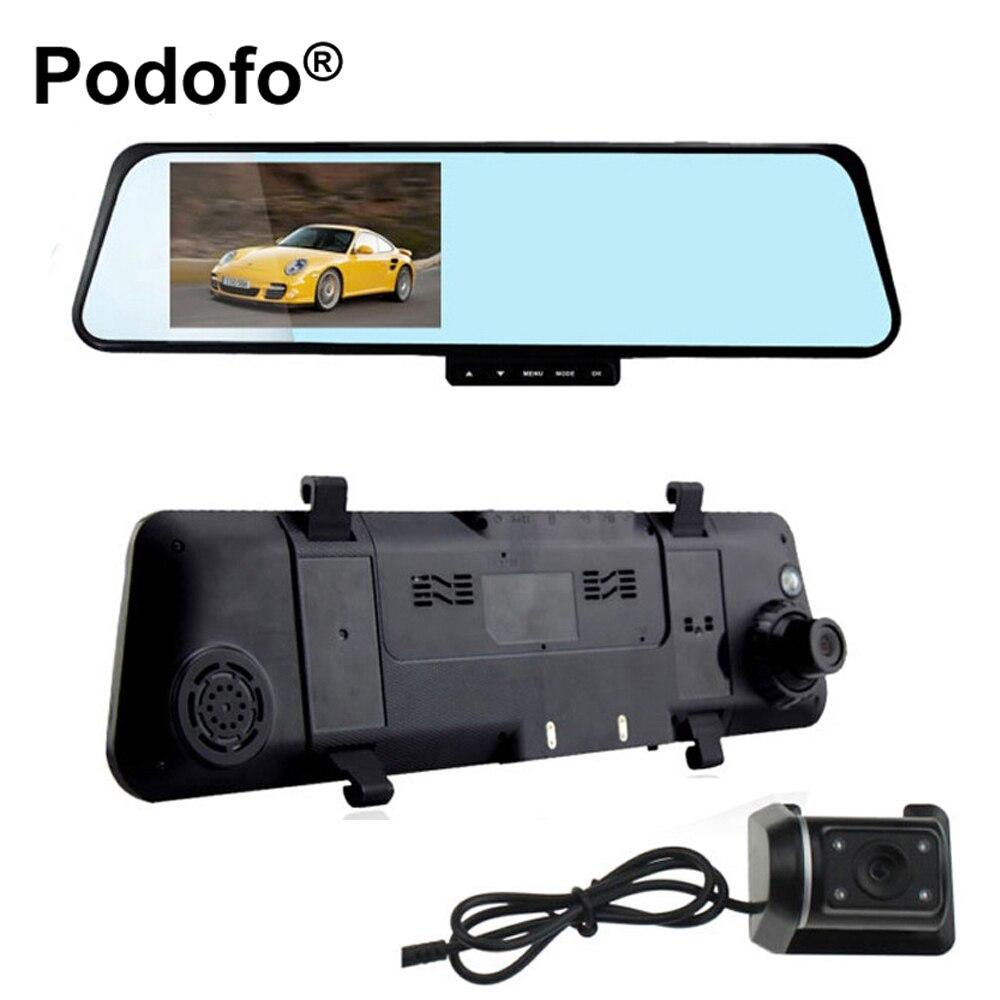 Car Camera Rearview Dual Lens Mirror Auto dvrs cars DVR parking video recorder registrator dash cam Full HD 1080p night vision