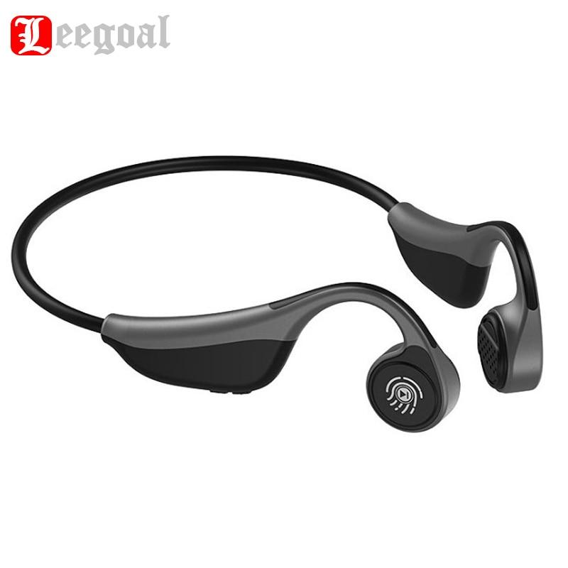 Écouteurs Bluetooth 5.0 à Conduction osseuse casques de sport sans fil à oreille ouverte avec micro pour le Jogging course conduite vélo anti-transpiration