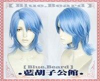 Kingdom Hearts III Aqua Cosplay Wig Role Play PARTY hair for Christmas Halloween Blue 2019 New GANME ANIME hair accessory Cos Sa