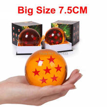 Dragon Ball Crystal Balls 7.5CM Big Size 1 2 3 4 5 6 7 Star Balls Classic Action Figures Toys New In Gift Box(China)