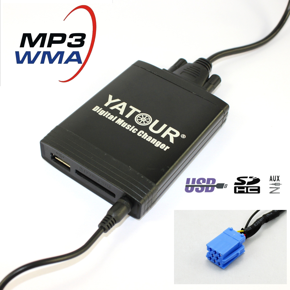 Yatour YT-M06 Car digital music changer for Peugeot Citroen  RD3 RB2 RM2 Van-bus  Car USB MP3  SD AUX adapter yatour digital music changer usb sd aux adapter yt m06 fits volvo s60 s40 car stereos mp3 interface emulator din connector