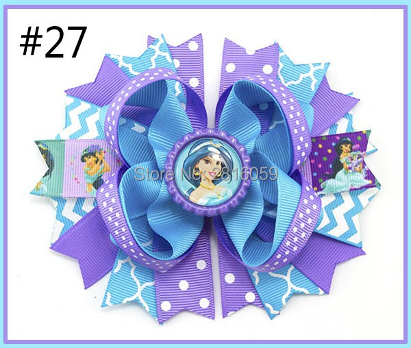 Free Shipping 2017 Newest 12pcs 5.5'' Inspired Hair Bows Popular Character Hair Bow With Lined Clips Bouqiue Girl Hair Bows B
