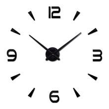 Маленькие модные настенные часы для гостиной, дизайнерские акриловые зеркальные часы, европейские 3d-наклейки «сделай сам», большие декорат...