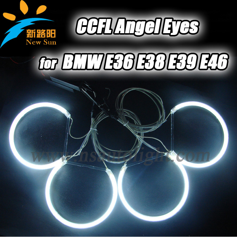 Super bright Colorful ccfl angel eyes halo rings Headlight kit for BMW E36 E38 E39 E46 auto ccfl angel eye car light super bright 8000k ccfl angel eyes halo rings kit for bmw e46 non projector auto ccfl angel eye car headlights free shipping