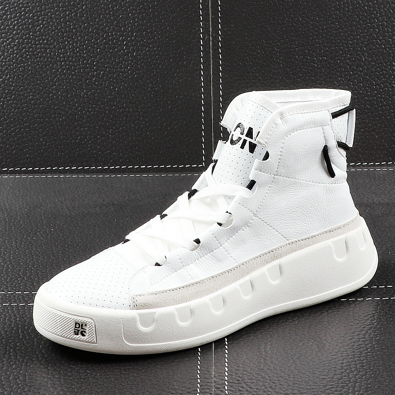 CuddlyIIPanda 2019 Men Fashion Causal Ankle Boots Summer Leather Breathable High Top Leisure Sneakers Male Youth Trending Shoes