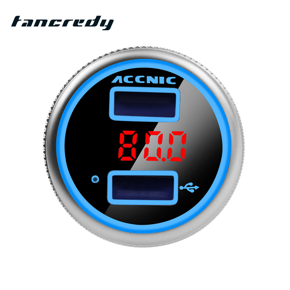 Car MP3 Player Bluetooth Dual USB Quick Car Charger FM Transmitter Adapter Voltage LCD Digital Display Bluetooth Handsfree
