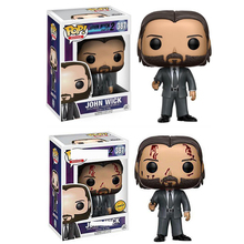 FUNKO POP Arrival John Wick #387 Keanu Reeves Man Movie Vinyl Action Figures Collection Model Toys Christmas Gift 2F16