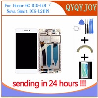 Q Y QYJOY 100 Tested OK LCD DIsplay Touch Screen Digitizer Assembly For Huawei Honor 6C