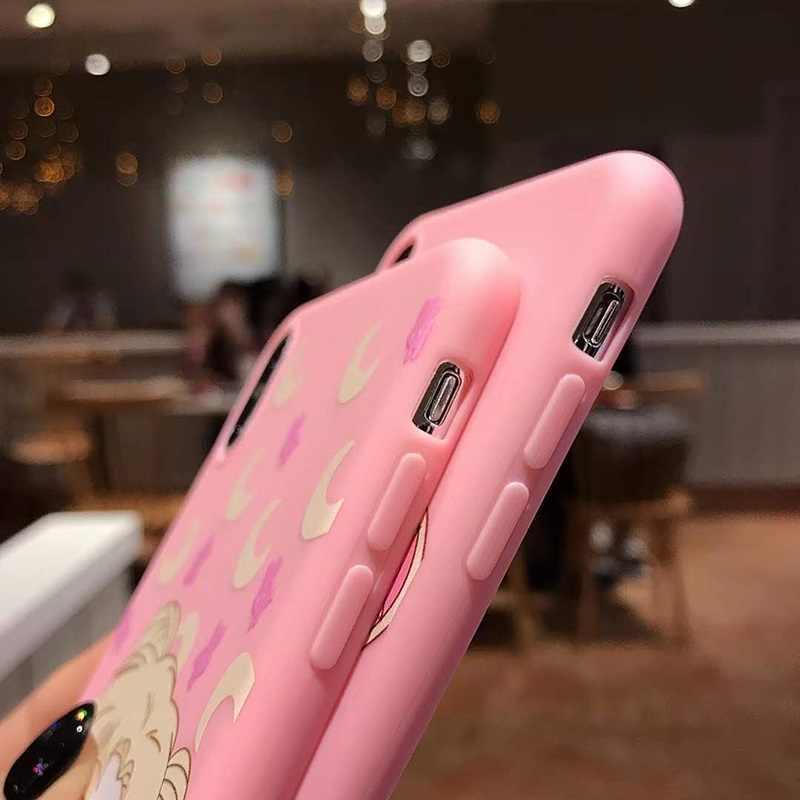 """3D милый розовый чехол с принтом """"Сейлор Мун"""" для Xiaomi 8 A 1 2 Lite Мультяшные игрушки ремешок на запястье Мягкий ТПУ чехол для Redmi note 7 6 5 4 3 A X pro"""