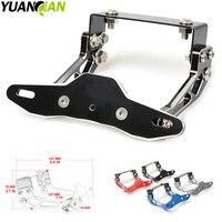 Motorcycle Adjustable Angle Aluminum License Number Plate Frame Holder Bracket For Kawasaki Z1000SX ER6N F Ninja