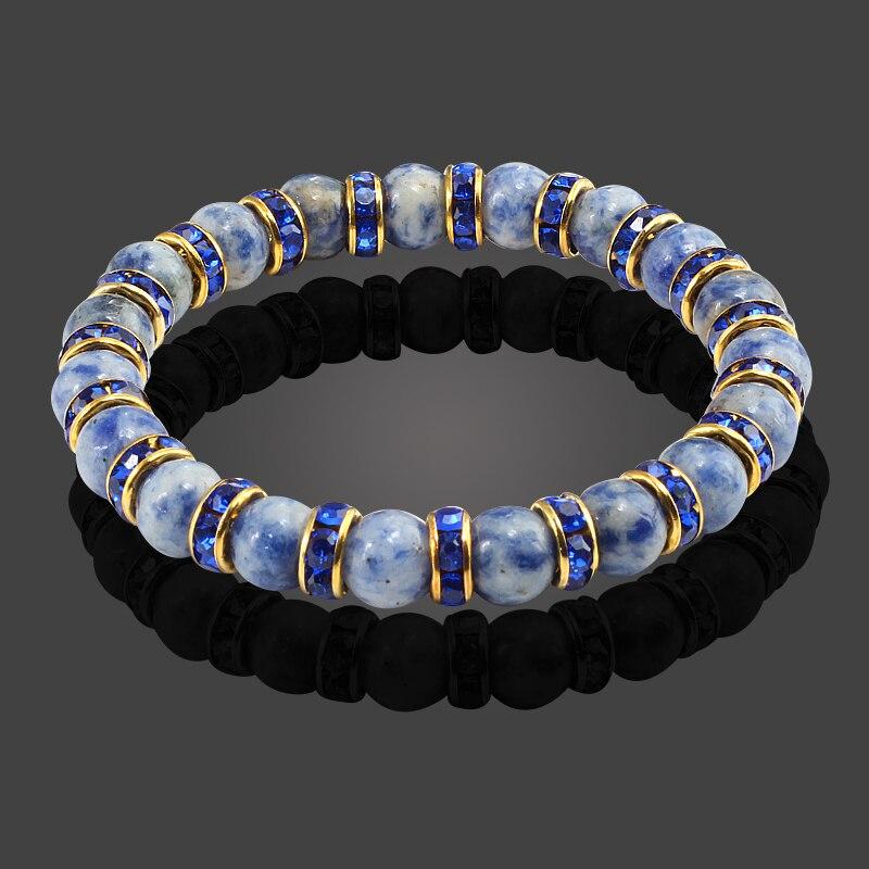 Beminnelijk Hoge Kwaliteit Ronde Kraal Natuursteen Armbanden & Bangles Yoga Meditatie Meisje Crystal Kralen Mannen Stretch Boeddha Chakra Armband Winst Klein
