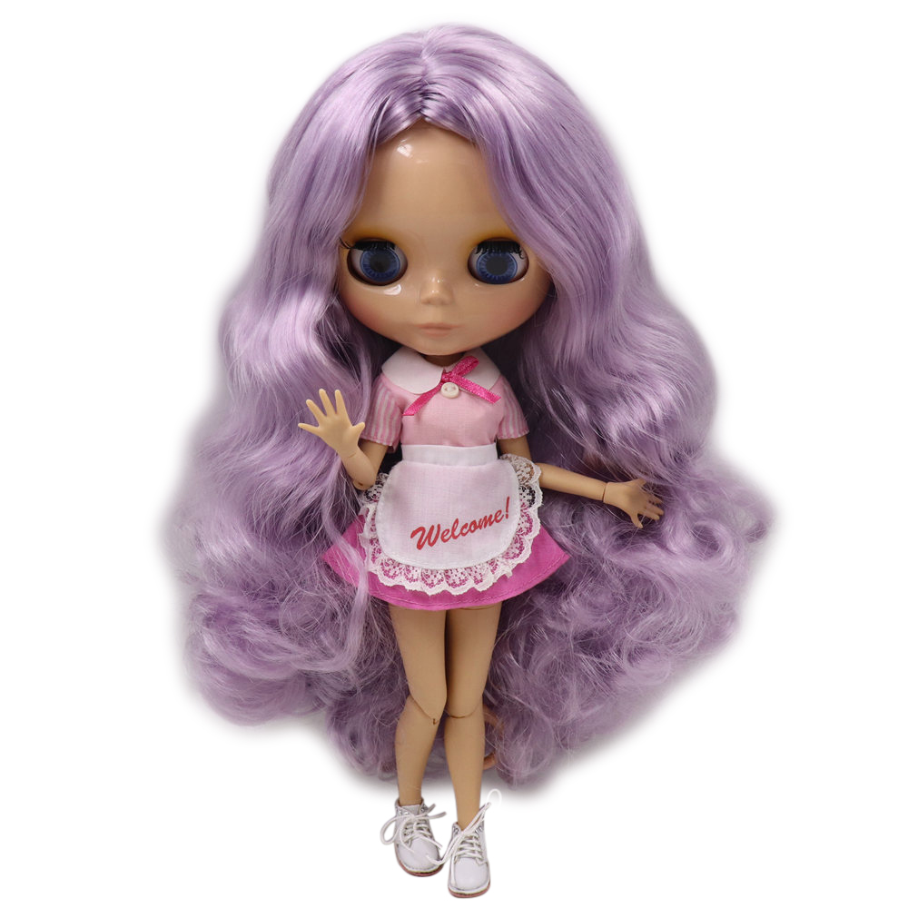 ICY Nude Factory Blyth doll No BL1049 Purple hair JOINT body Burning skin Neo BJD