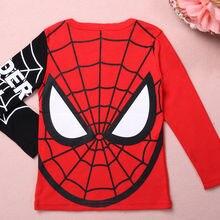 Pudcoco/Новые футболки с человеком-пауком для маленьких мальчиков топы, футболка с длинными рукавами, одежда костюм Человека-паука детская одежда