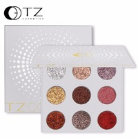 9 Colors Glitters Eye Shdow Palette Rainbow Diamond Pressed Glitters Eyeshadows Palette Cosmetic Make Up Glitterinjections