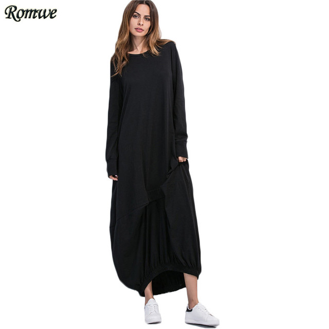 Dress maxi long sleeve