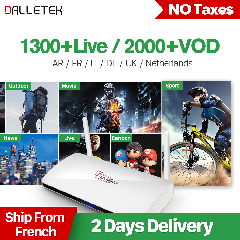 Dalletektv QHDTV 1 Year IPTV Leadcool Europe Arabic IPTV Box French Belgium Dutch Netherlands Smart Android 6.0 IP TV Top Box