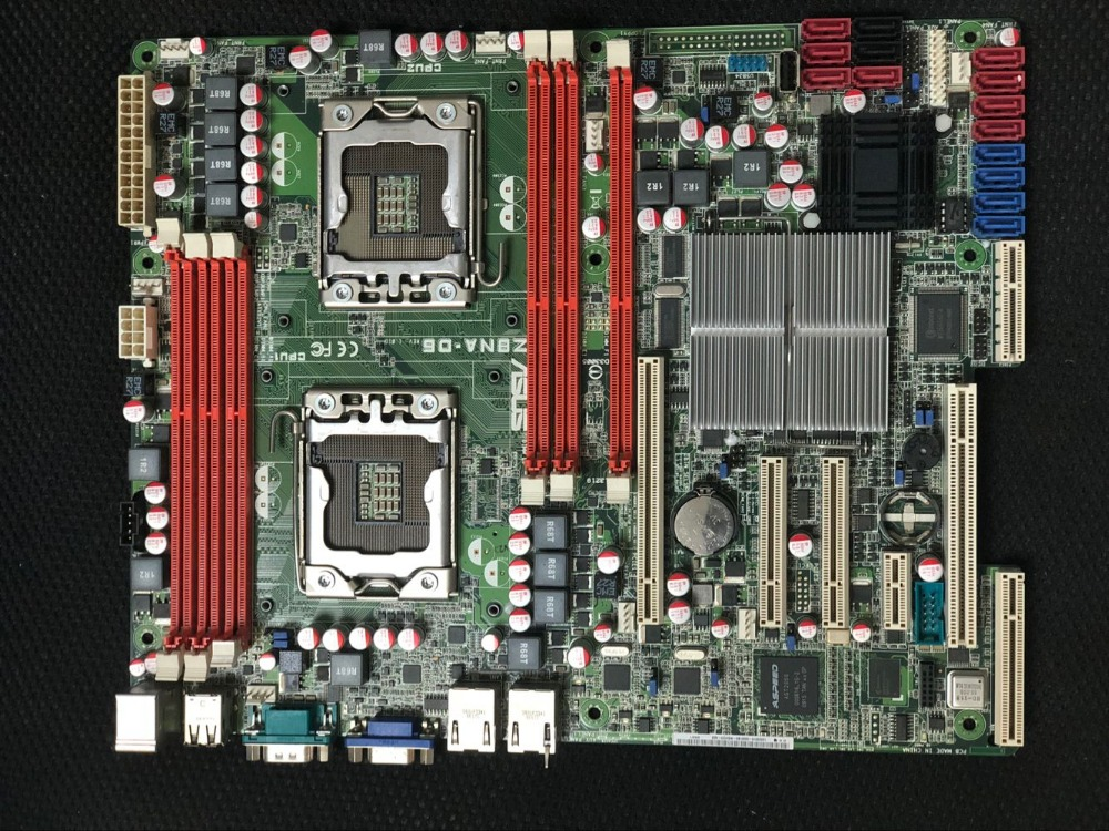 Originale della scheda madre ASUS Z8NA-D6 LGA 1366 DDR3 Dual 1366 Scheda Server Desktop mainboard Spedizione gratuita