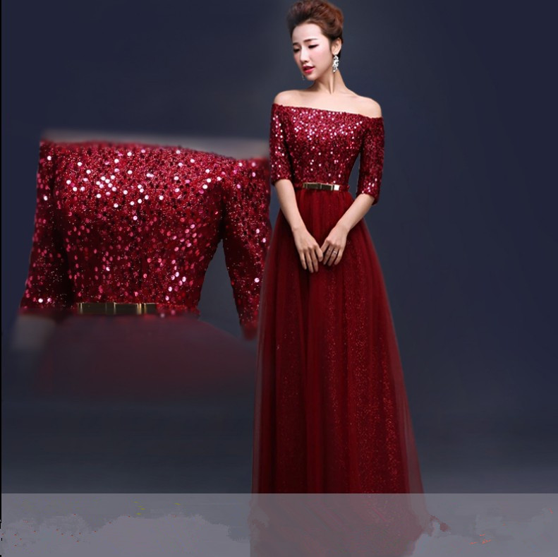 Free shipping Wine red Prom Party gowns Long Evening dresses Robe de ...