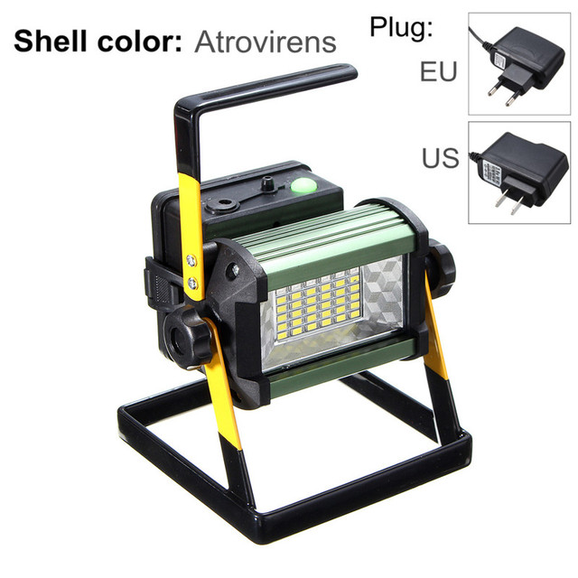 4 Modes 50w 36 Led Floodlights Rechargeable Flood Light Spot Camping Portable Outdoor Flashing Lamp Eu Us Plug 2400lm