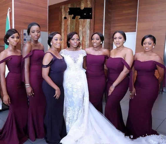 0b9ecd97133d6 2019 African Nigerian Spring Summer Girl Bridesmaid Dress Garden Country  Formal Wedding Party Guest Maid of Honor Gown Plus Size