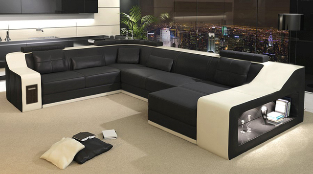 leather sectional sofa chicago coaster fine furniture tan microfiber sleeper 2015 modern sofa/leather sofa/sofa set/sofa furniture-in ...