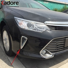For Toyota Camry 2015 ABS Chrome Front Air Vent Outlet Cover Trims Exterior Accessories Car Styling Sticker