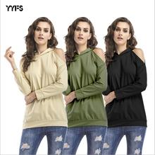 YYFS 2019 New Women Off Shoulder Hoodies Pullover Casual Loose Fleece Lovers Harajuku Sweatshirt High Quality XL