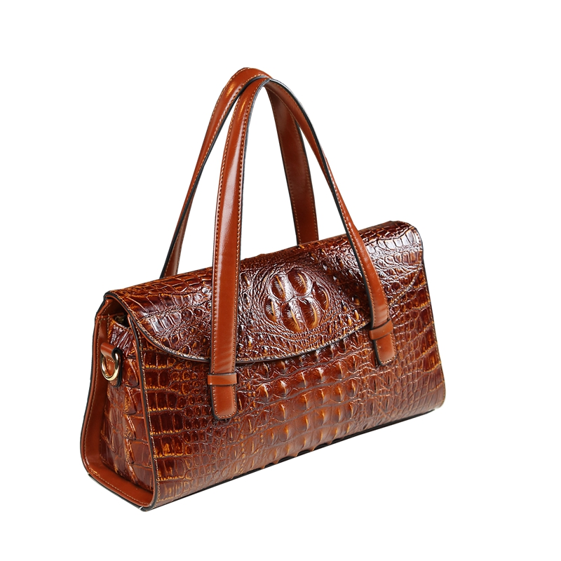 High quality luxury split leather pillow bag crocodile pattern women messenger bags fashion boston shoulder clutch office tote high quality multicolore pattern flax pillow case without pillow inner