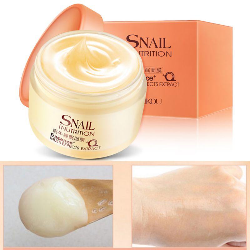 Snail Sleeping Mask Hyaluronic Acid Anti-Wrinkle Anti-aging Facial Day Cream Collagen Moisturizer Nourishing Tight Skin Serumcar