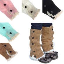 Детские вязаные крючком кружева ботинки с кружевной отделкой по верху гетры носки 1 пара l вязаные крючком кружева сапоги манжеты M3