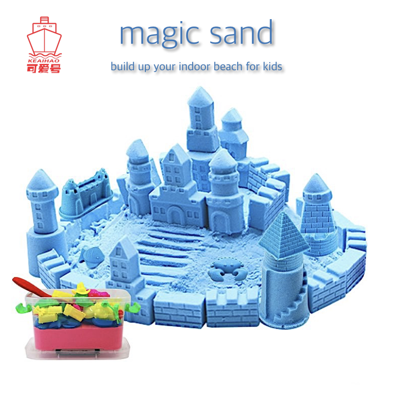 2000g Magic Sand High Dynamic Modelling Educational Indoor Beach for Kids Early Learning Rainbow Colour Gift with Accessories ...