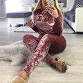 Мода Женщин Новый Длинным Рукавом Повседневная Loungewear 2 Шт. Набор Костюм Бегунов