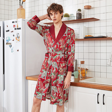 Новое прибытие черный красный китайских людей Сатин халат новинка кимоно кимоно халат лето гостиная пижамы S М L ХL ХХL XXXL осенняя