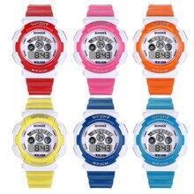Cute Waterproof Relogio Digital LED Children Watch Sports Electronic Kids Watches Relogio Infantry Menino Clock Wristwatch E44