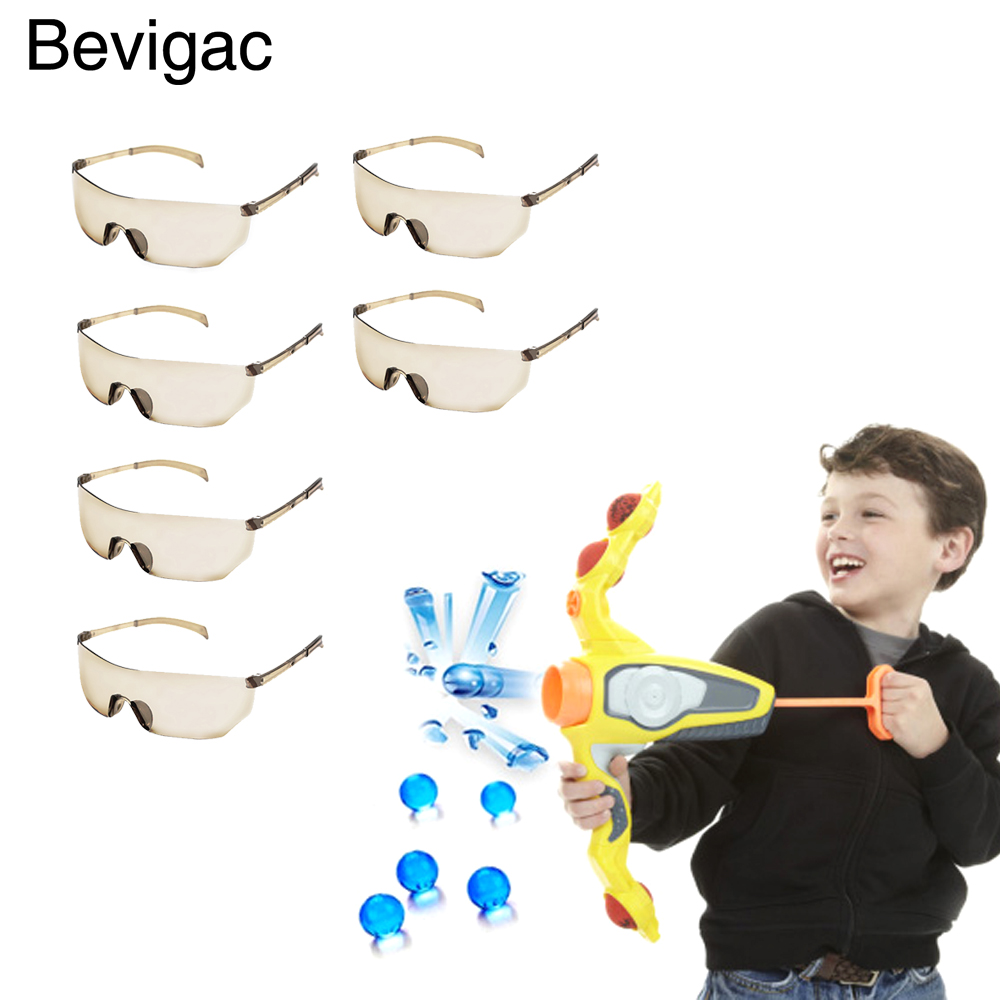 6 PCS Kids Children Outdoor Game Protective Goggles Safety Glasses Eyewear For Nerf N-Strike Elite Shooting Game Eye Protection