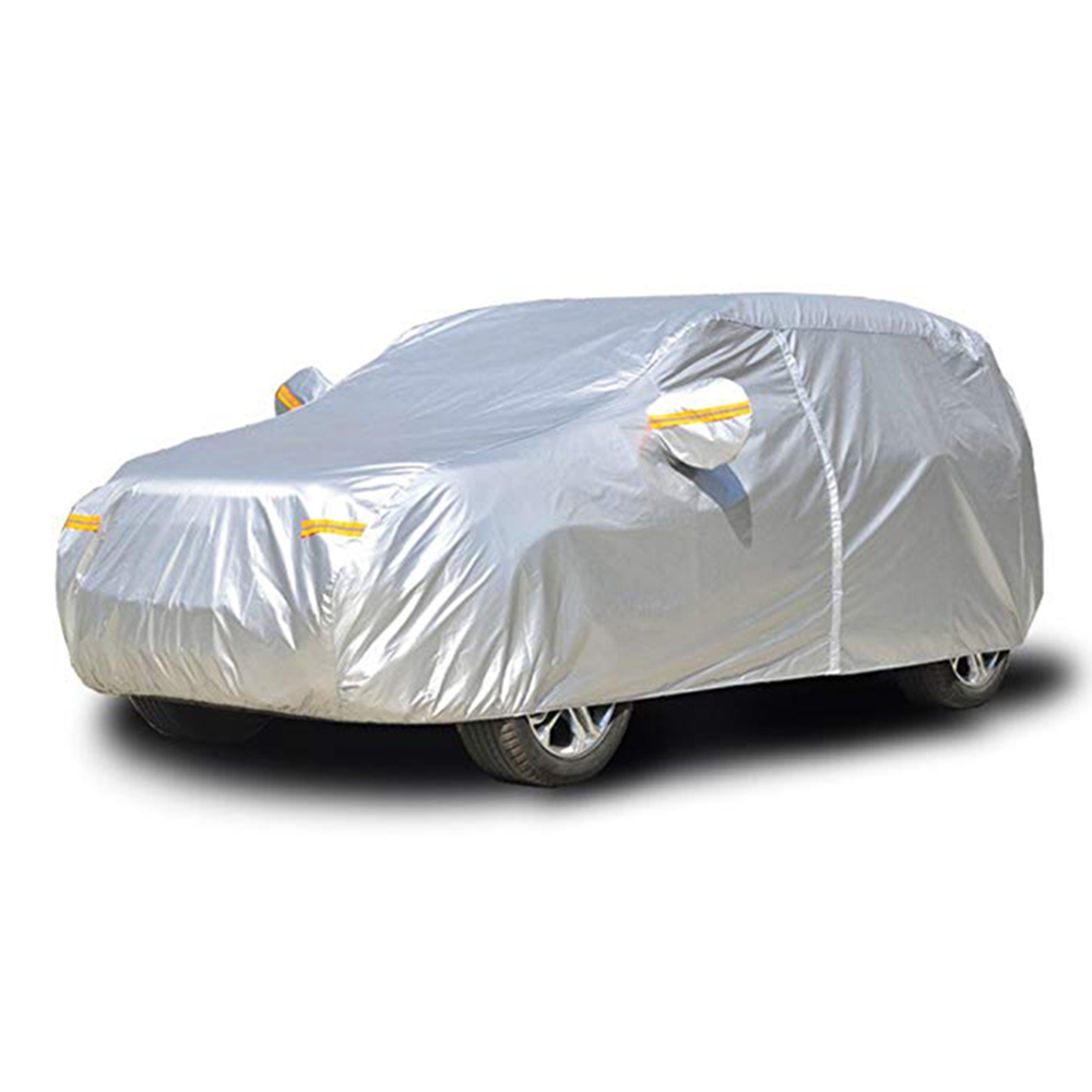 Waterproof Car Cover Dust Rain Stome UV Snow Sun Protection Covers Coat Hatchback Sedan SUV Outdoor Indoor Reflector Zipper D45(China)