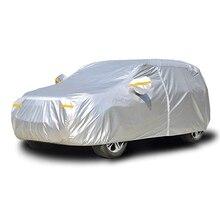 Waterproof Car Cover Dust Rain Stome UV Snow Sun Protection Covers Coat Hatchback Sedan SUV Outdoor Indoor Reflector Zipper D45