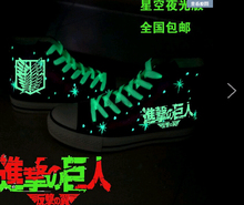 The Attack On Titan Canvas luminous Wings of Liberty Cosplay Costume shoes