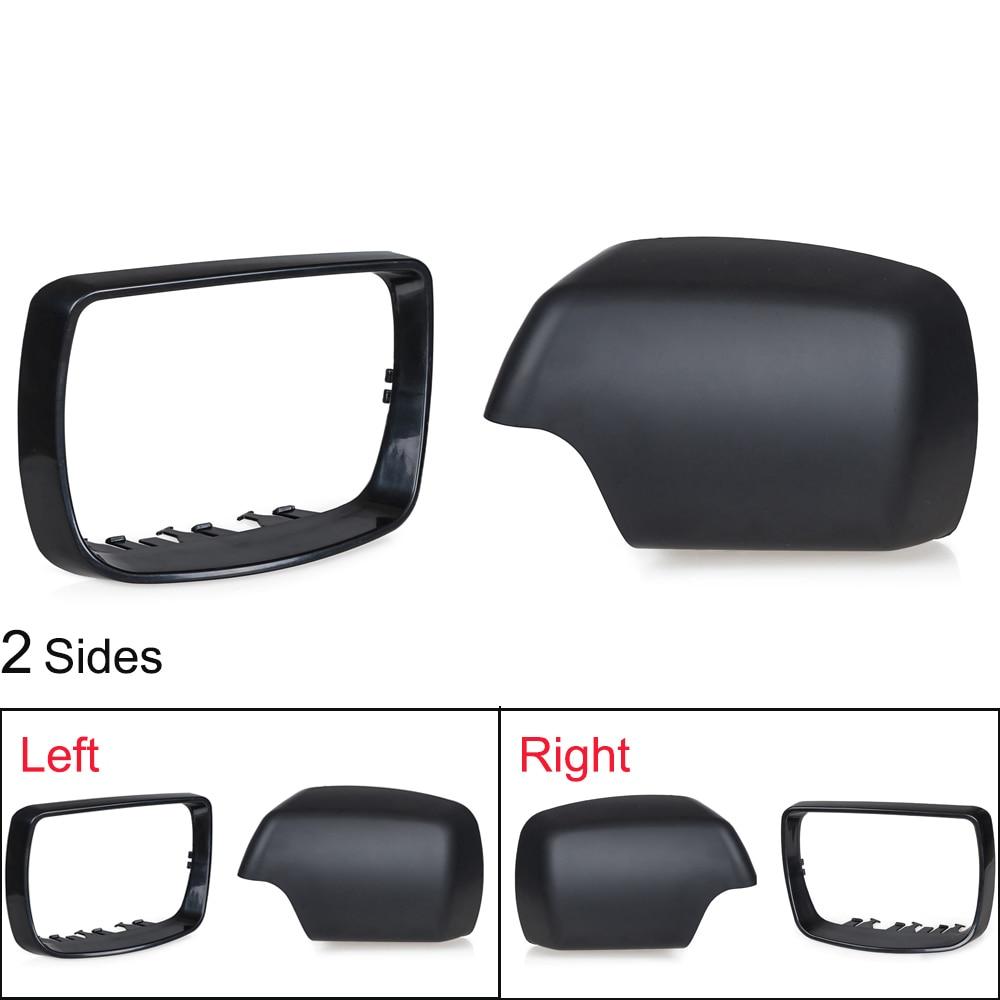 Para BMW E53 X5 Tapa de la cubierta del espejo de la puerta del lado derecho izquierdo 2000 2001 2002 2003 2004 2005 2006 Anillo de ajuste del espejo retrovisor 51168256321