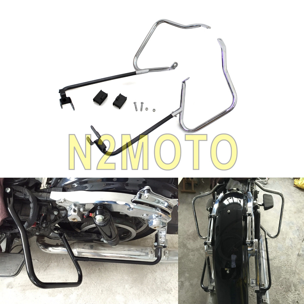 Motorcycle Saddlebag Bracket Bar Guard for Harley Touring Road King Street Glide FLHX FLHXS FLHXSE 2014-2017