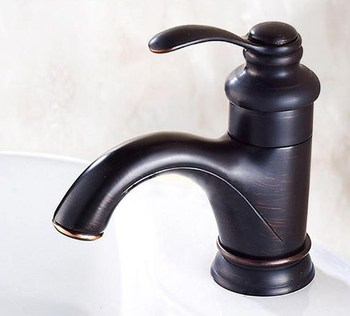 цена на Black Oil Rubbed Brass Single Handle Lever Bathroom Single hole Deck Mounted Faucet Vessel Sink Basin Mixer Tap anf065