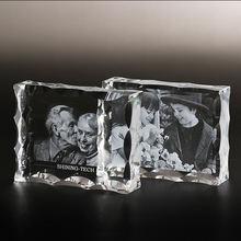 Персонализированная Хрустальная фоторамка индивидуальная стеклянная