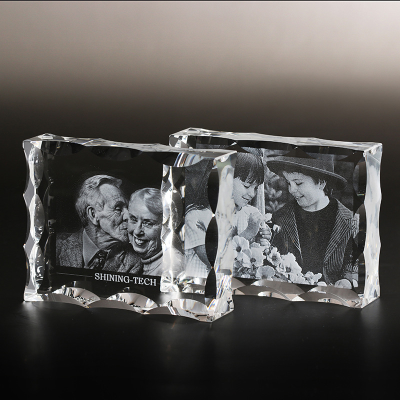 Personalized Crystal Photo Frame Customized Glass 3d Laser Engraved Picture Frames Diy Wedding Family Photo Album For Gifts Frame Aliexpress